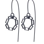 Black small dangly earrings