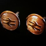 Brass buttons cufflinks