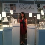 Sara Lois on the CGGC stand in the Exhibition Hall