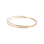 Wrap Around Brass Bangle